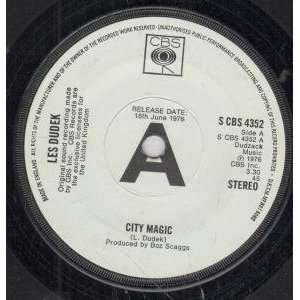 CITY MAGIC 7 INCH (7 VINYL 45) UK CBS 1976: LES DUDEK: Music