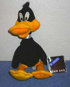WARNER BROTHERS STUDIO STORE DAFFY DUCK 9 PLUSH BEAN BAG TOY