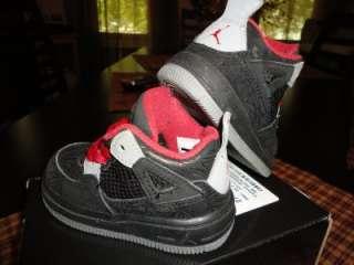 Nike Air Jordan AJF 5c IV Baby Toddler Shoes 5C 414592 001 EUC Black