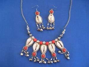 African Jewelry MOROCCAN STYLE COWRIE Necklace A