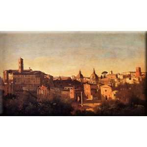 Forum Viewed From The Farnese Gardens 16x9 Streched Canvas