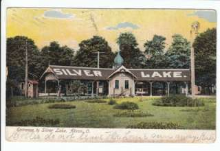 entrance to Silver Lake Park in Akron OH. Postmarked Nov. 25, 1907