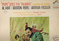 AL HIRT   POPS GOES THE TRUMPET   ARTHUR FIEDLER LM2729