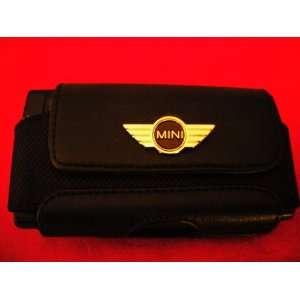 Mini Cooper Black Leather Cell Phone Case/PDA Case