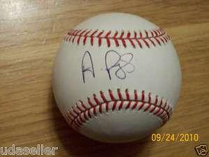 ALBERT PUJOLS Auto Signed MLB BASEBALL MOUNTED MEMORIES