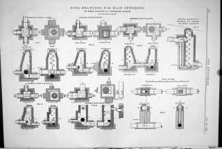 Engineering 1881 Drawings Main Sewering Robert Rawlinson Manhole