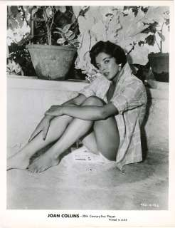 1957 JOAN COLLINS BATHING BEAUTY PIN UP PHOTOGRAPH EARLY VIEW RARE
