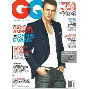com GQ magazine~ July 2011 ~ Chris Evans *Captain America* GQ Books