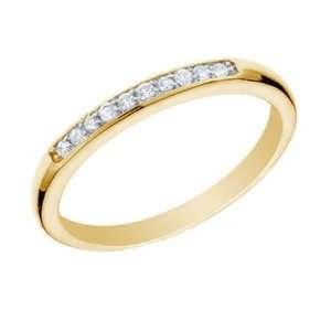 10 CT Diamond Wedding Band 14K Yellow Gold (I1 I2 Clarity) In Size 7