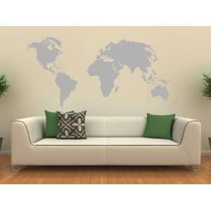 World Map Art Design Wall Decal Sticker Home & Kitchen