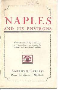American Express   Naples and its Environs 1925 edition