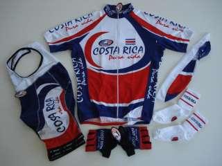 New COSTA RICA Team Cycling Set Jersey Bib Shorts XL