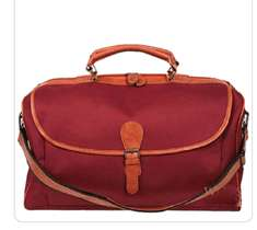 Classic Leather Travel duffle bag large Overnight Carry on Bag Gym