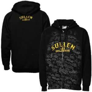 Sullen Black Collective Art Full Zip Hoody Sweatshirt