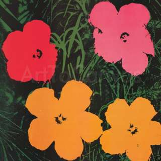 38x38 FLOWERS 1964 ANDY WARHOL POP ART VOGUE CANVAS