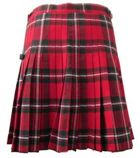 MACGREGOR Red Tartan/Plaid Deluxe Kilt Skirt   26   44