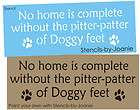 pet stencil home complete paw print pitter patter dog f $ 9 95 time
