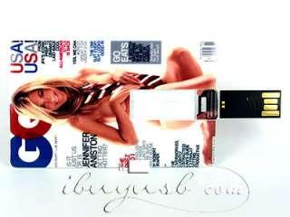 GB Jennifer Aniston Sexy Credit Card USB Flash Drive