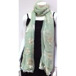 High Quality Unique Designer Fabric, Mint Green Scarf Neck Wear Wrap
