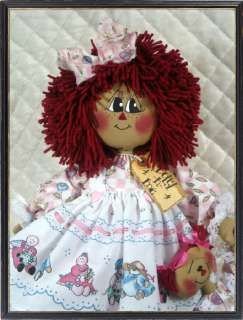 Primitive Raggedy Ann~Emmie Rose~w/Dolly Ornie~by Ginger Creek