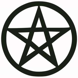 PENTAGRAM DECAL/STICKER anton lavey satan black metal