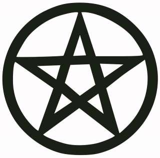 PENTAGRAM DECAL/STICKER anton lavey satan black metal |