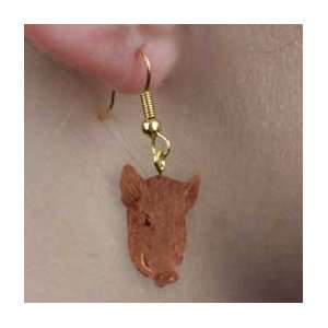 Razorback Hog Earrings Hanging