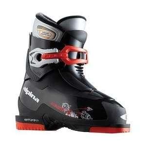 Alpina Boys Black Zoom Ski Boots   Black 18 MONDO POINT