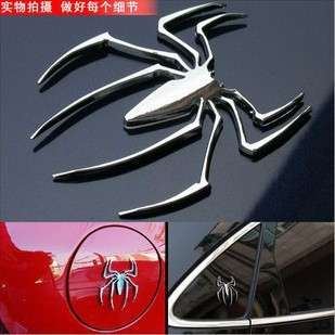 Metal Spider Emblem 3D Logo Car Motor Decal Sticker S