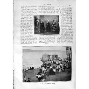 1900 SEASHORE SCENE BAIRAM TURKISH WOMEN SUGAR FEAST:  Home