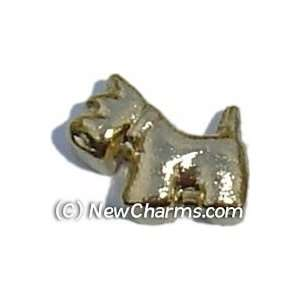Dog Floating Locket Charm Jewelry