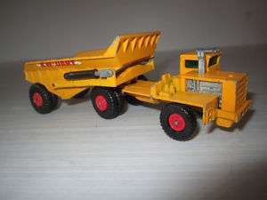 Matchbox King Size K2 KW Dart Articulated Dump Truck