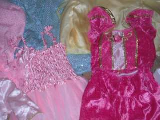 HUGE LOT Girls DRESS UP Play DISNEY PRINCESS Pretend CLOTHES Costume