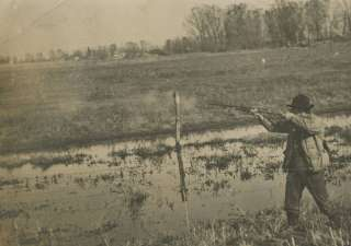 OLD ARTISTIC DUCK HUNTER HUNT FOWL GUN BOOTS RPPC PHOTO