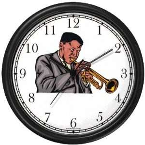 Trumpet or Cornet Player No.1 Jazz Musician Wall Clock by