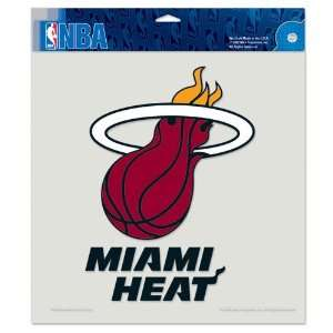 Miami Heat Die Cut Decal   8in x8in Color Sports