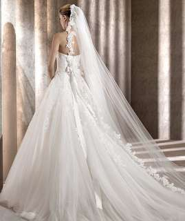 2012 Elegant Custom made A line Tulle Wedding dress Bridal Gown Free