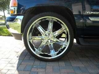 Wheel + Tire Packages 26 inch Triple chrome rims B7