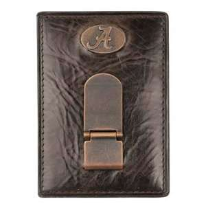 Fossil Alabama Crimson Tide Leather Money Clip/Card Holder