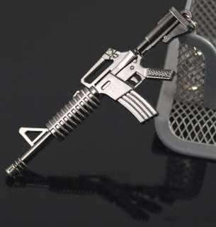 Miniature Military Gun Weapon Model M4A1 Assault Rifle Key Chain Ring