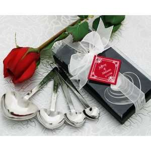 Love Beyond Measure Heart Shaped Measuring Spoons in Gift Box (pack of