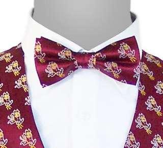 Necktie Neck Long Bow Tie ASU Arizona State Sun Devils