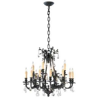 Noir Gothic Revival Modern Black Crystal 16 Light Chandelier