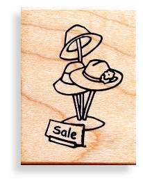 HAT SALE mounted rubber stamp, Red Hat Society #5