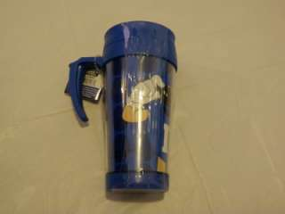 blue hot travel mug . Brand new in packaging. Genuine M&Ms