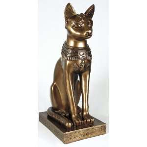 Bronze Egyptian Bastet Cat Statue 8072 Home & Kitchen