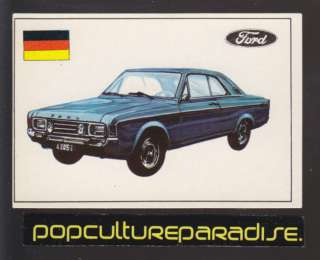 1971 FAMOUS CARS CARD #105 Ford 20M RS German Car Auto