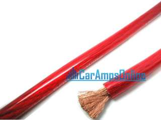 AUDIO 4 AWG GAUGE 20 FT RED CAR STEREO AMPLIFIER POWER WIRE CABLE