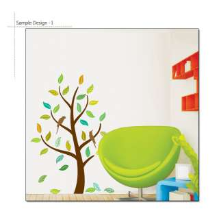 ] Autumn Tree & Birds Removable Vinyl Decal Wall Decor
