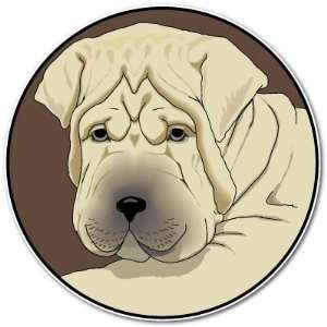 Shar Pei Cute Puppy Dog Car Bumper Sticker Decal 4x4